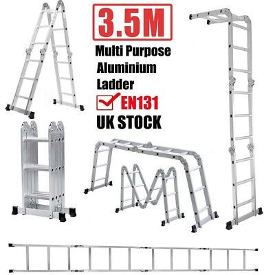 3.5 Meter 14in1 Aluminium Collapsible Retractable Ladder Stairs 3X4 Step Home