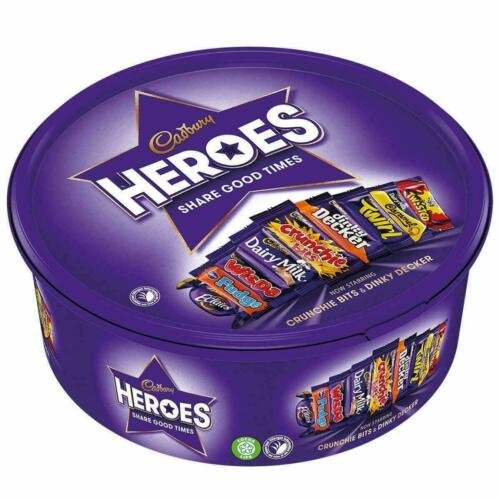Cadbury Heroes Chocolate Tub, 600g ~ Free Shipping