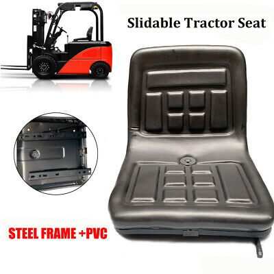 Lawn Garden Slidable Black Tractor Seat Pvc Riding Mower Fits Most Brands Us