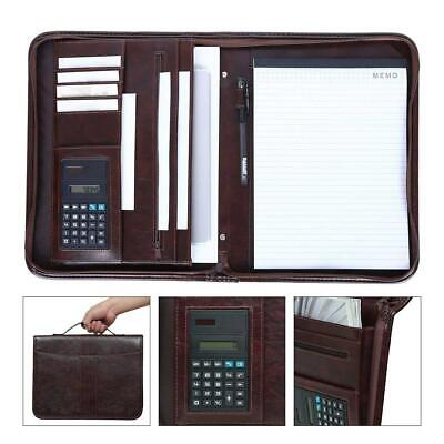 Leathario Portfolio A4 File Folder Padfolio Writing Pad Business Presentation