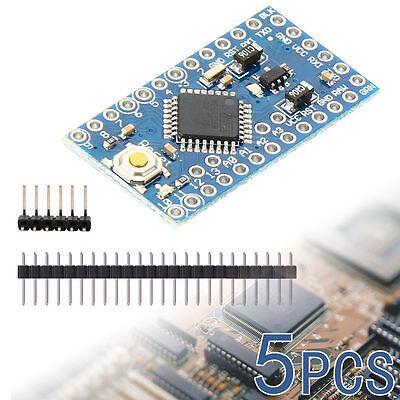 5x Arduino Pro Mini Atmega328 Microcontroller W Headers 5v Module Board Te362