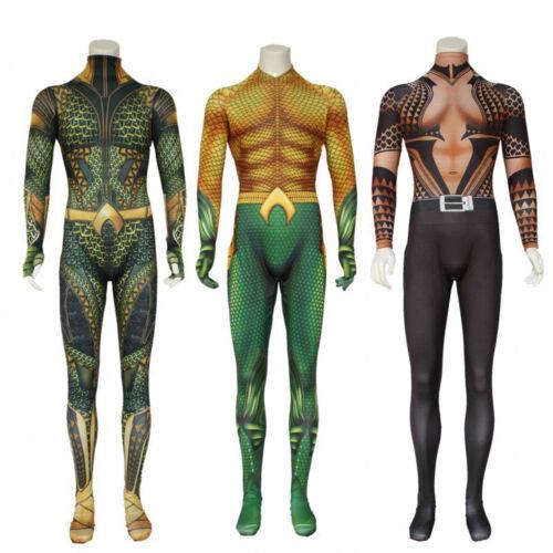 Halloween Cosplay Aquaman Anime Costume Zentai Jumpsuit Bodysuit Suit Men Kids