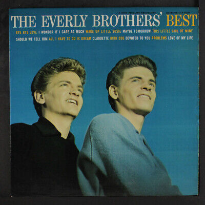 EVERLY BROTHERS: The Everly Brothers' Best LP (Mono, minor laminate peeling