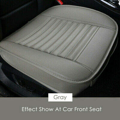 Gray Car Front Seat Cushion Bamboo Charcoal Protector Pad Driver Mat Cover Pad
