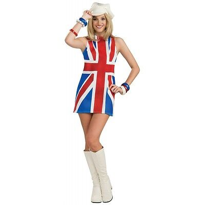 British Invasion Union Jack Flag Dress Costume Halloween Fancy Dress (Flag Halloween Costume)