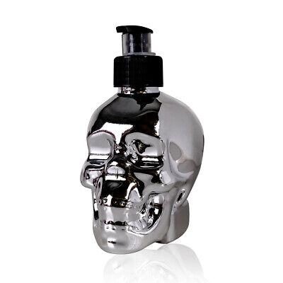 Totenkopf Seifenspender mit Flüssigseife im Pumpspender, Skull - Schädel Chrome