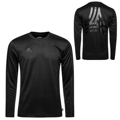 Mens Adidas Tango Terry Long Sleeve Climalite Black Jersey New Adidas Climalite Stretch Jersey
