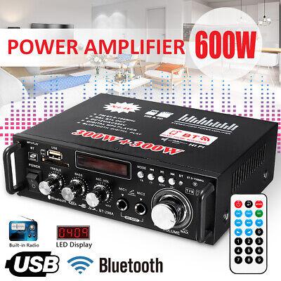 600W bluetooth Estéreo Audio Amplificador Hifi Coche Casa Potencia 2CH Fm Radio