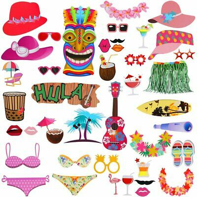 Photo Booth Hawaii Beach Party Props Wedding Hen Birthday Baby Shower Decor](Beach Wedding Shower Decorations)