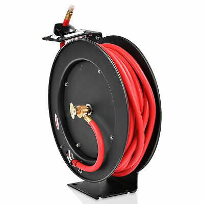 50 Air//Water Hose Not Included 50/' Air//Water Hose Not Included Reelcraft T-1117-12 Heavy Duty Hand Crank Hose Reel