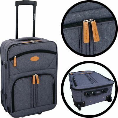 LEONARDO TROLLEY Leichter Koffer Stoff Handgepäck Reisetrolley Kabine Boardcase - Leichtes Gepäck