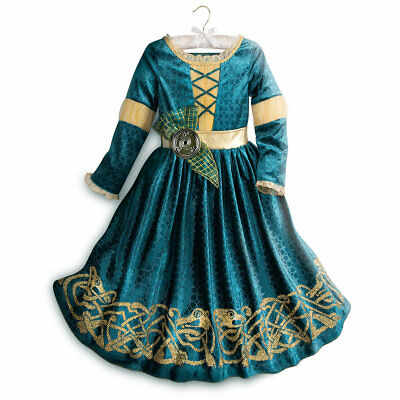 Girl Costums (NWT Disney Store Merida Costume Girl Princess Brave)