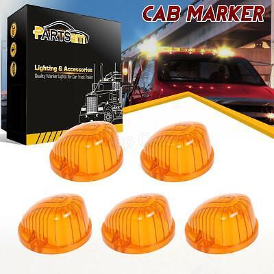 5PCS Amber Roof Running Top Light 9069A Covers Lens for Chevrolet GMC C/K PICKUP