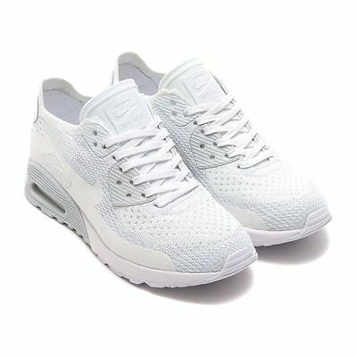 8854d45f NIKE AIR MAX 90 ULTRA 2.0 FLYKNIT WOMEN'S Size 8 SHOES WHITE PLATINUM  881109-104