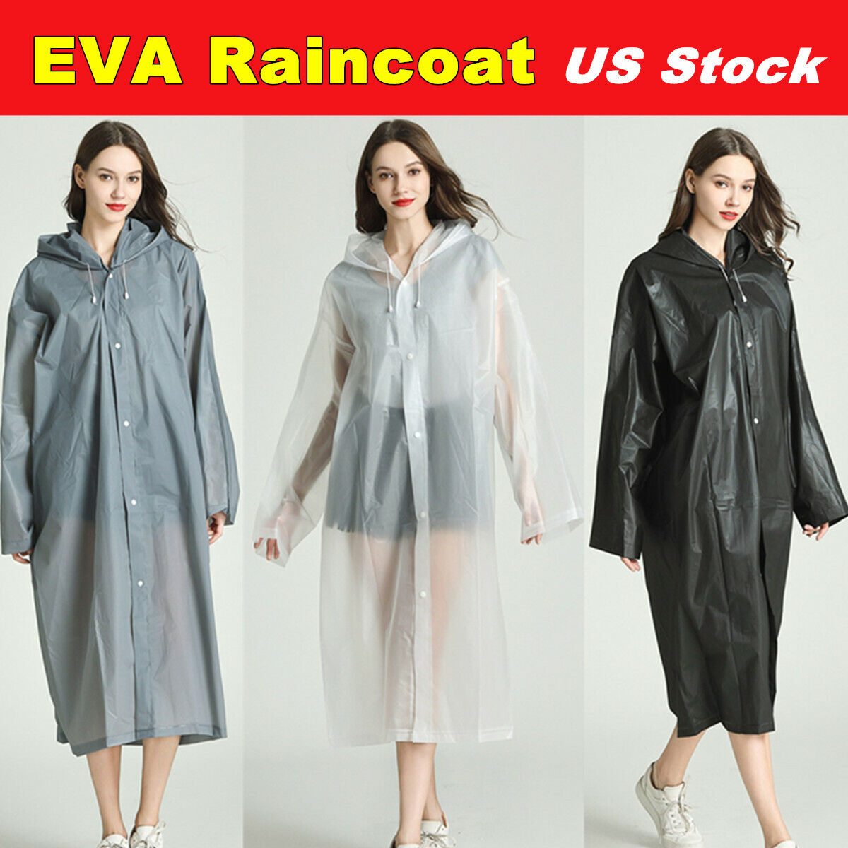 eva rain coat waterproof jacket clear raincoat