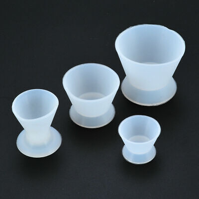 4 Sizes Dental Lab Flexible Silicone Dappen Dish Mixing Bowl Cup 7 20 40ml