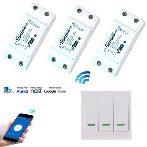 Sonoff RF WiFi Wireless Switch Modul+433 Wandschalter Licht