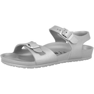 Birkenstock Rio Kids EVA Schuhe Kinder Sandalen silver Weite schmal 1003533