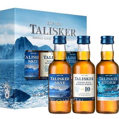 Talisker Single Malt Tasting Set 3 x 0,05 l Miniaturen Probierpackung