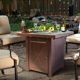 Outdoor Fire Pit Table Furniture Patio Deck Backyard Heater Fireplace LP Gas