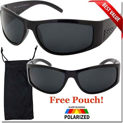 Polarized Mens Sunglasses Super Dark Lens Black Frame Sunglass OG Style New (Mens Sunglass Styles)