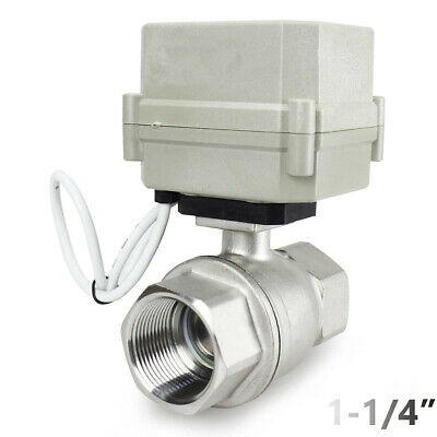 1-14 Stainless Steel Motorized Electric Ball Valve 110v 120v-220vac 2 Wire Nc