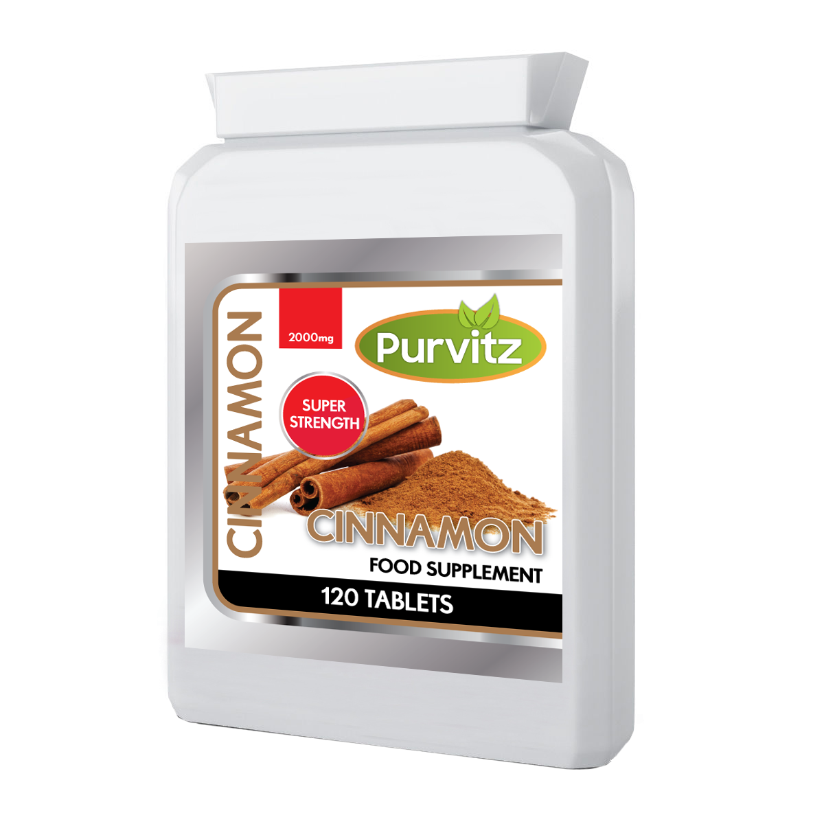 Cinnamon 2000mg Weight Loss Blood Sugar Digestive Slimming Tablets Purvitz UK