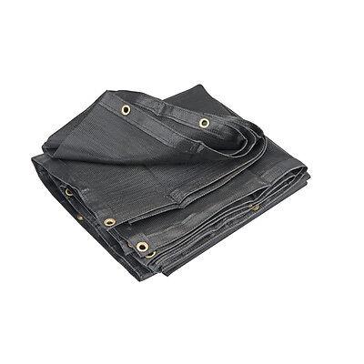 7 x 30' Black Shade Screen Net Mesh Netting Tarp Canopy Cover Sun Sail Block for sale  Temecula