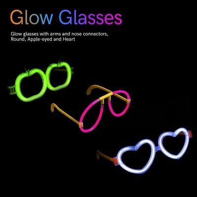 7 Pieces Glow Sticks Connectors Party Set Accessories or Dance Raves or Party ()