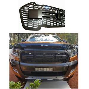 NEW Ford Ranger Grill 2015 / 2016 & 2017 White LEDs Black Letters Newcastle Newcastle Area Preview