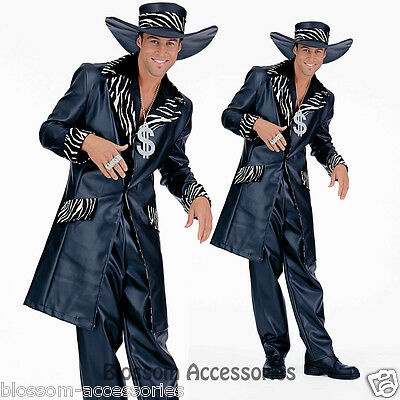 Pimp Faux Leather Halloween Fancy Adult Costume (Mac Daddy Pimp)