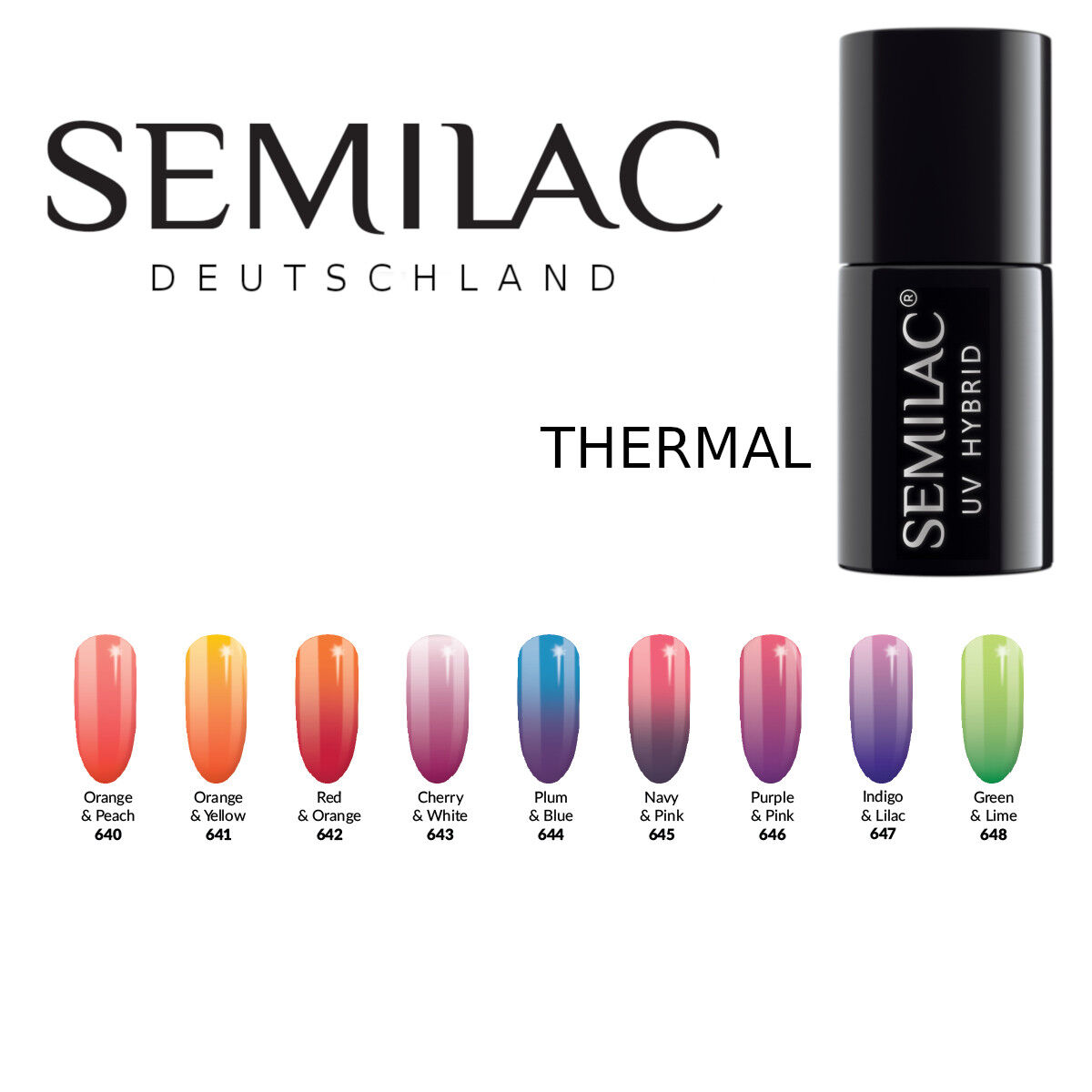 Semilac UV LED Nagellack 7ml , Gel Polish, Thermolack, Thermal
