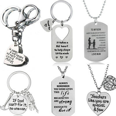 Family Gifts Daughter Son Mom Dad Father Mother Best Friends Pendant