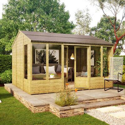 12 x 10 Hobbyist Summerhouse with Long Windows OSB Roof and Floor...
