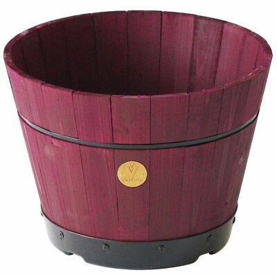 VegTrug Medium 46cm Barrel Tapered Planter - Burgundy