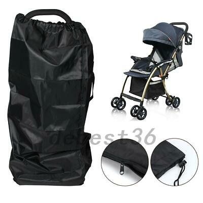 Black Pram Travel Bag Umbrella Buggy Pushchair Waterproof Cover Compact Useful - $8.99