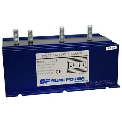 Sure Power 120 Amp Multi-Battery Isolator | 1-Input, 2-Output (Part# 1203) - Multi Battery Isolator