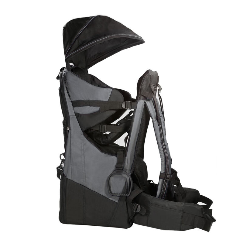 ClevrPlus Deluxe Outdoor Child Backpack Baby Carrier Light Outdoor Hiking, Grey