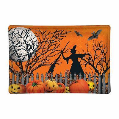 Michel Design Works Glass Trinket / Soap Dish Halloween Witch Trick or Treat  - Halloween Chalk Designs