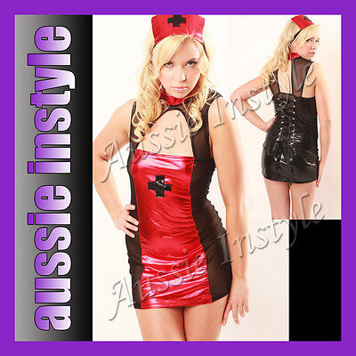 Aussie Lingerie Night Shift Nurse Adult Costume Dancer Halloween Size 8 10 12  (Australian Halloween Costumes)