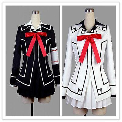 HOT!! new Vampire Knight Cosplay Costume Yuki Cross White or Black Womens Dress  - Hot Vampire Woman