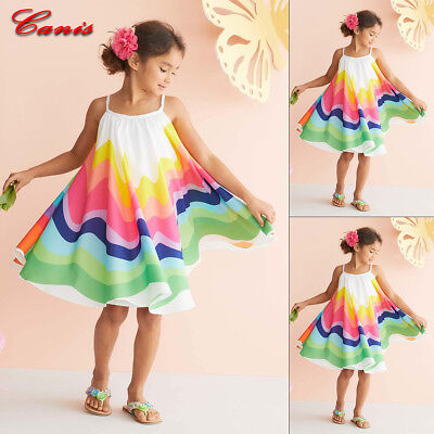 Toddler Kids Baby Girls Cartoon Sleeveless Party Princess Dress Outfits Clothes - Party Girl Outfits