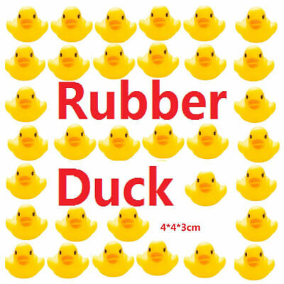 10-200PCS Mini Yellow Rubber Ducks Ducky Bathing Floating Ducky Baby Shower Toys