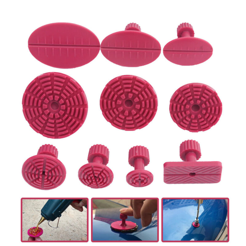 10pc Red Paintless Glue Puller Tabs Car Body Hail Removal Repair Tool