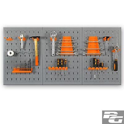 XL-Werkzeugwand 120x60cm aus Metal Sortiment Lochwand Werkstattwand