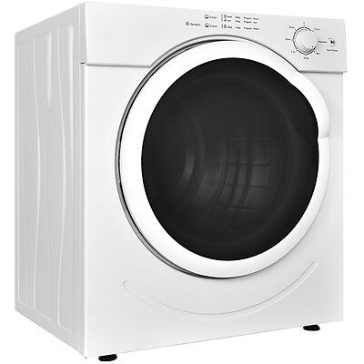 Electric Tumble Compact Cloths Dryer 13LBs Stainless Steel 3.21 Cu. Ft. Laundry