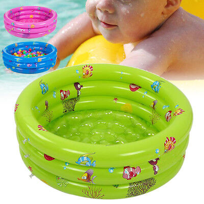 Inflatable 3 Ring Small Paddling Pool Children's Kids Swimming Pool Garden Play