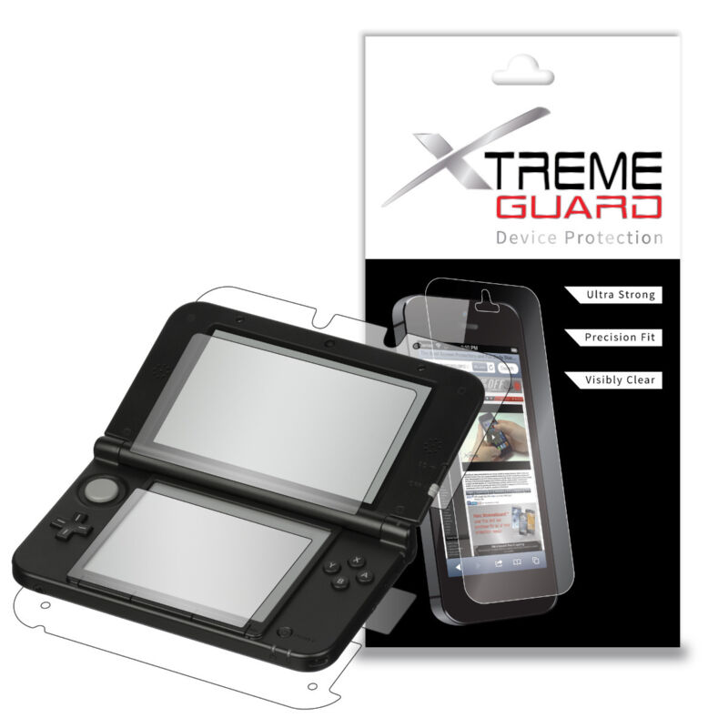 Genuine XtremeGuard FULL BODY Screen Protector For Nintendo 3DS XL (AntiScratch)