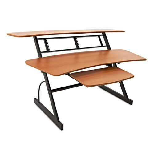 Large 3 Tier Studio Desk by Gear4music, 8U-DAMAGED-RRP £299.99
