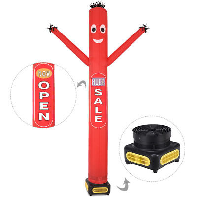 10 Ft Inflatable Puppet Dancer Tube Man Removable Slogans With Blower Red New